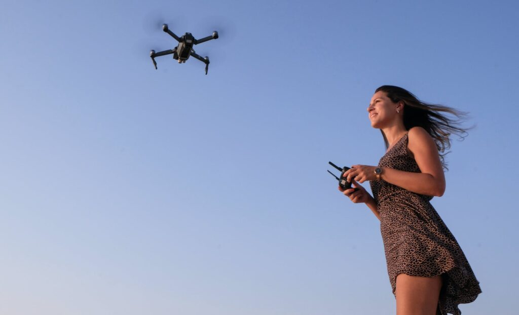 What Is The Easiest Drone To Fly Woman Playing Drone