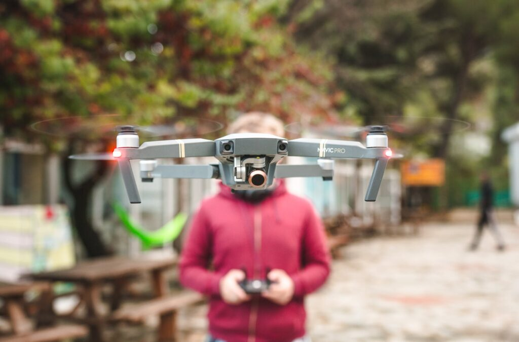 Person Playing With Drone Videography