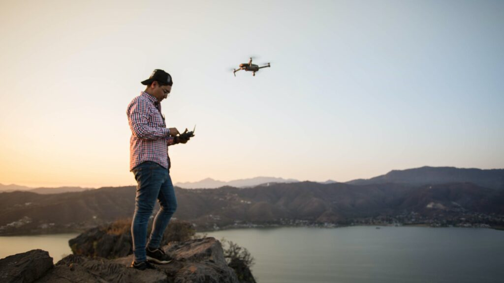 The Best Drone For Beginners Man Flying A Drone